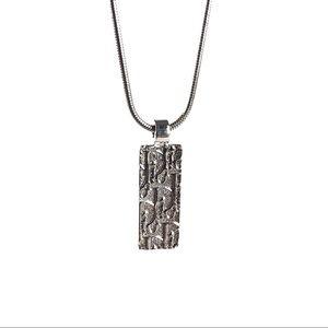 DIOR Trotter Monogram Pendant Necklace